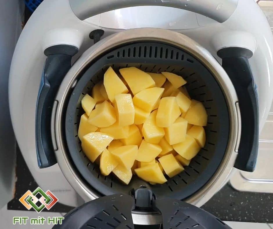 Kartoffeln im Garkörbchen